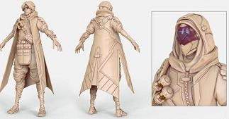 暴雪设计师放出《守望先锋》所有角色原始模型,细节考究