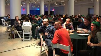 塞尔达主题密室逃脱项目在纽约开张了,绿帽们占领了大厅