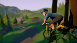自行车速降新作登陆Steam青睐之光,气质独特的低多边形风
