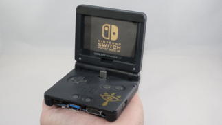 这位玩家将GBASP掌机改造成了Switch的底座