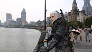 ChinaJoy期间,白狼杰洛特来到上海寻找女儿