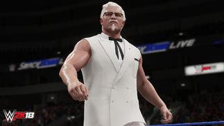 肯德基老爷爷将加入《WWE 2K18》,化身肌肉猛男