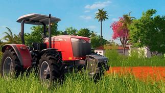 玩《模拟农场》的农民们