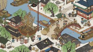 在古画中考察明代生活,模拟经营类手游《江南百景图》将于7月上线