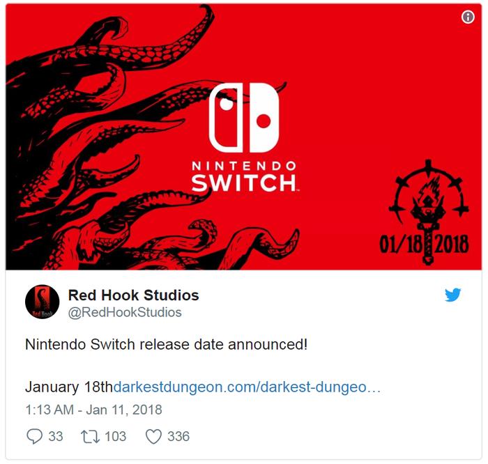 新游早报:《片面战争》三国题材新作、《暗黑地牢》Switch版发售日公布