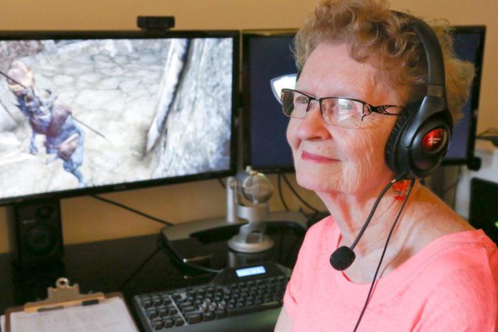 福利电影在线观看,奶奶级玩家们不仅打游戏,她们还成立了一个组合