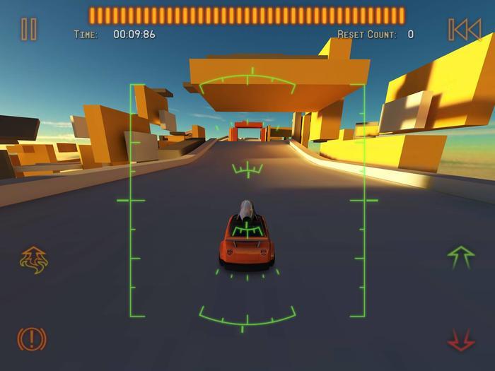 单色调的几何体和屏幕正中的HUD构成了系列最大特色