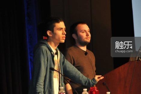 Justin Ma与Matthew Davis在GDC现场