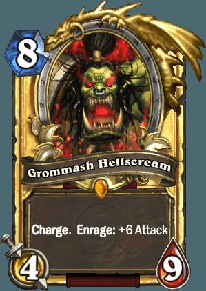 这是格罗玛什·地狱咆哮,把他放到第八、第九、第十回合打出来,或者被牧师偷走后打出来的感觉会完全不同……