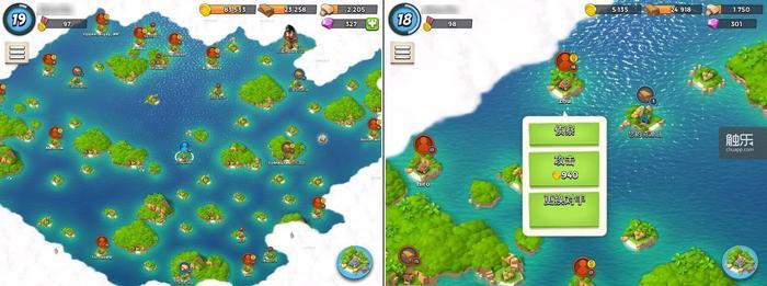 岛屿版图让玩家对敌人的形势一目了然,如果占据某个岛屿的敌人过于强大,玩家也可以在一段时间后选择更换对手