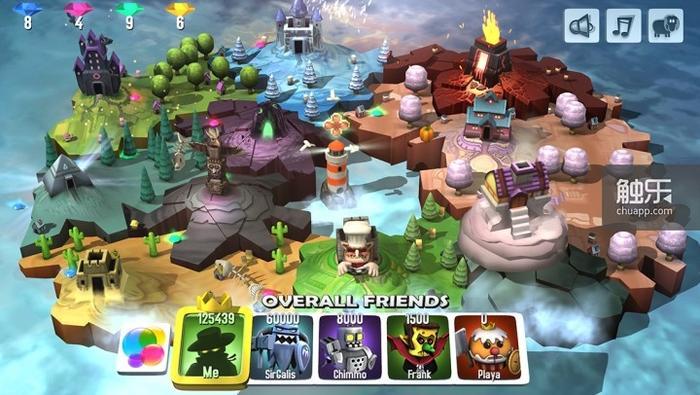 游戏设计了独特的剧情,玩家需要在四分五裂的岛屿间追逐拥王者