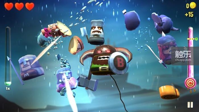 游戏的切割部分融合了战斗成分
