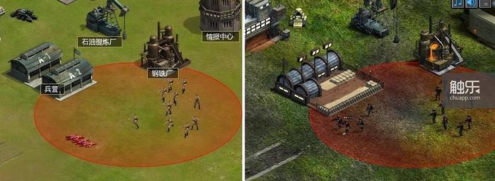 乐元素的《红警兄弟连》(左)与张汉生的《红色警报》(右)对比