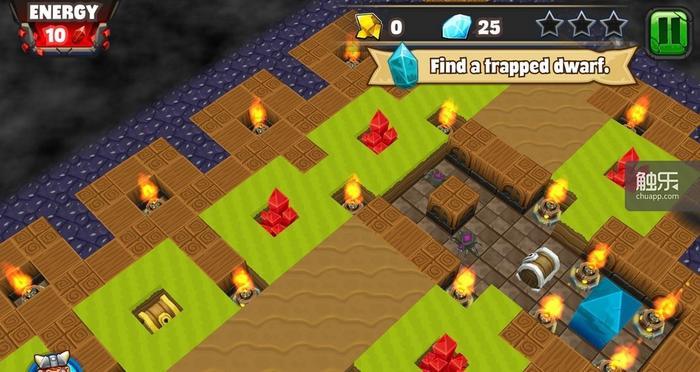 玩家需要不断挖掘,但实际上考验的是计算步数的智慧
