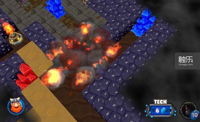 炸弹可以一次炸9个方格,玩家需要在能量值和炸弹数量之间取得平衡