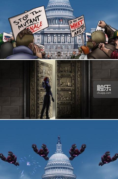 游戏开场是背景介绍,与主题相符的美漫风格