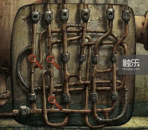 《机械迷城》的扳手谜题需要寻找扳手,再根据水管线路选择放置位置
