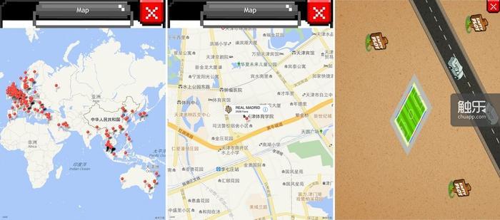 作为亮点的大地图模式,中国共有13名玩家,可准确定位到小区;玩家的球场可以花钱扩建