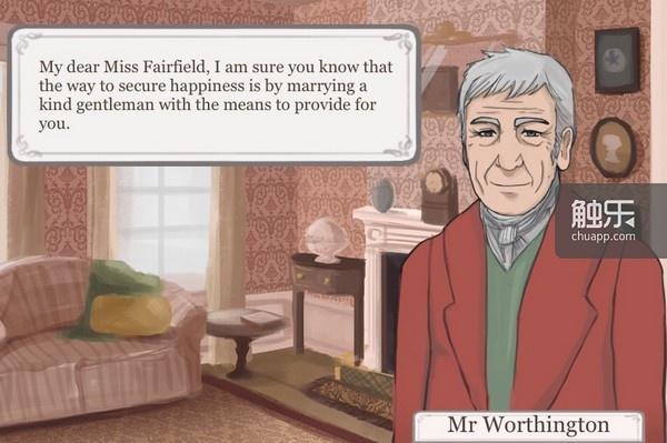游戏一开始,父亲的老友就会提醒女主角嫁人的重要性