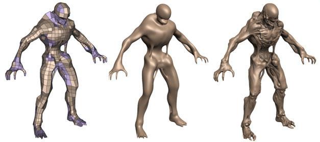 从低模到高模,目前的3D图形技术发展出了非常多的手段来实现更精细的模型