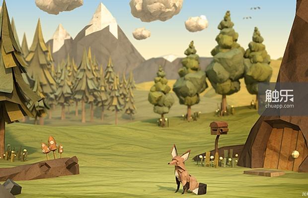 《纸狐》的场景完全是纸模的纤细感