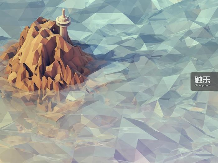 设计师Timothy Reynold所制作的低多边形数字艺术画