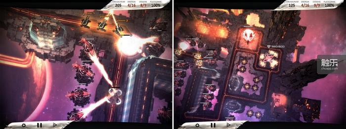 """利用建筑物掩护炮塔攻击长程单位的策略在游戏中非常重要;收割器相当于你的银行,可以源源不断的创造""""存款"""""""