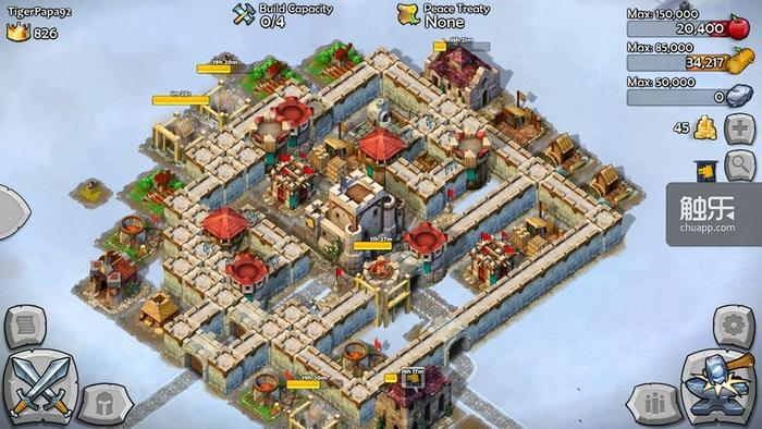 玩家主城,很有中世纪风格