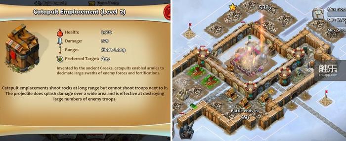 前期的攻防焦点投石炮塔;圣殿骑士的Rush几乎很难防御