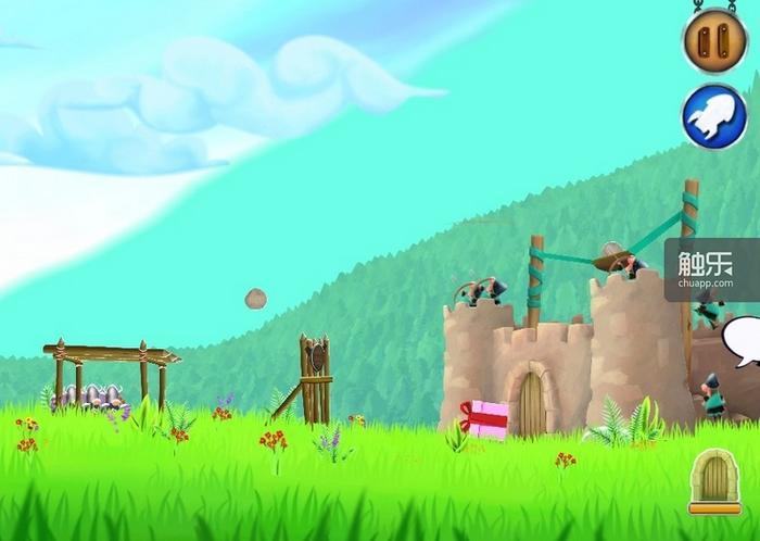 """弹弓的操作对于""""小鸟""""玩家而言绝对不会感到陌生,弓箭手的数量、射程和射速均可升级"""