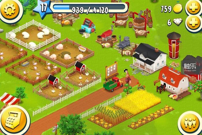 相对于开创性的《部落冲突》来说,《卡通农场》在某种程度更为难得——相当于在了无新意已显颓势的农场游戏里成功突围