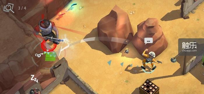 游戏中出现的Boss,绝大多数都是这种笨重角色,游击打法可以轻松将其解决