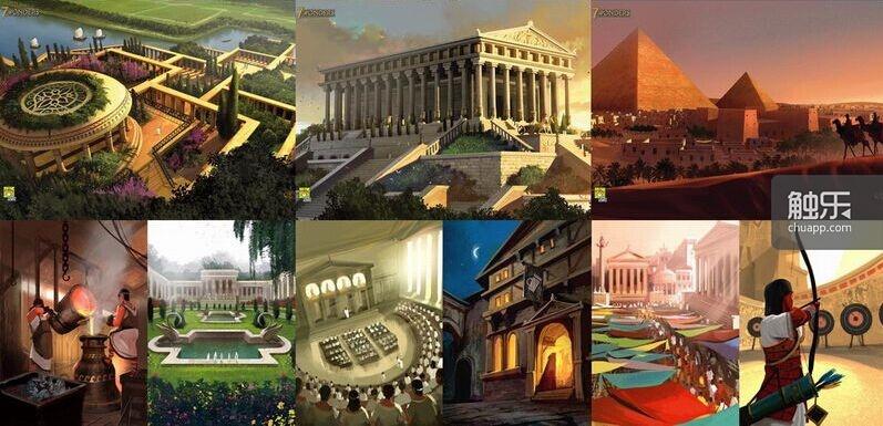 分别是吉萨金字塔,宙斯神像,罗德岛巨像,巴比伦空中花园,阿尔忒弥斯