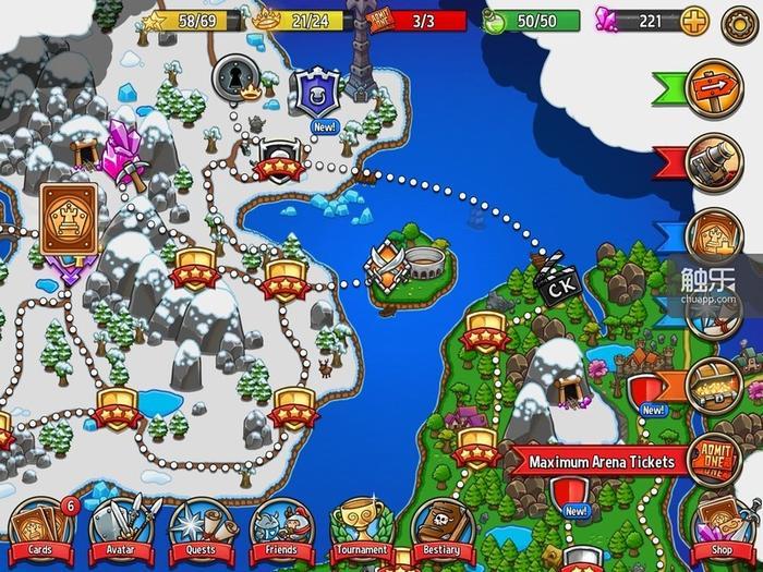 大地图上就能选择各种各样的游戏模式