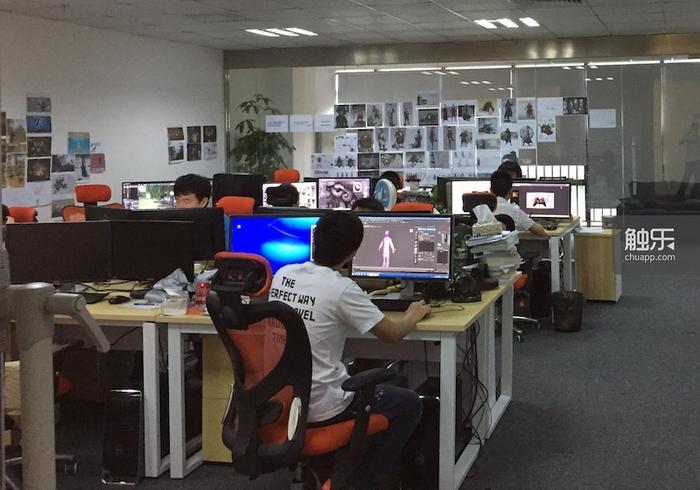 《隐龙传》开发团队的办公室