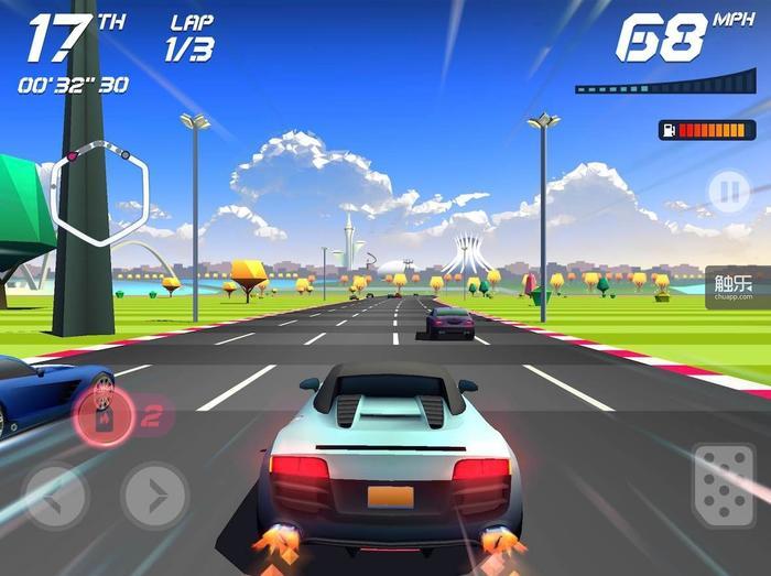 经典的操作方式就能让大部分玩家很好地操纵赛车了