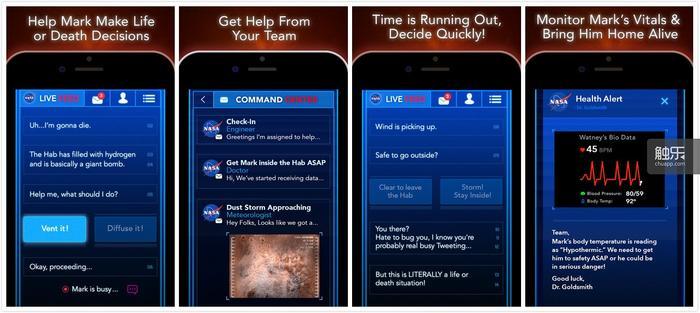 《火星救援:带他回家》的游戏界面确实多了一点东西,但不至于让人认不出它的大体框架和《生命线》基本一致