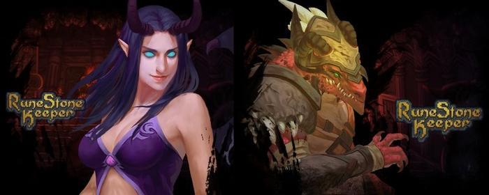移动版新增的两个英雄,半龙人和魅魔