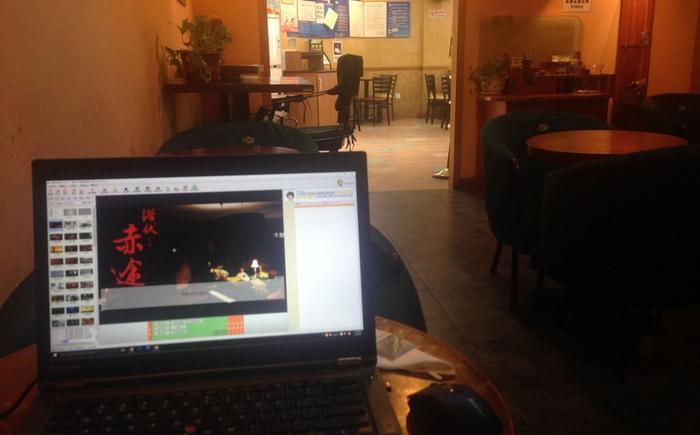 清华大学北门的SPR咖啡屋,范特西在这里完成了《潜伏之赤途》