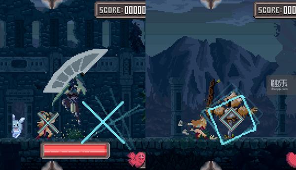 《Combo Queen》的玩法说起来很简单,大图案与小图案重合时判定有效,但操作起来很考验反应。