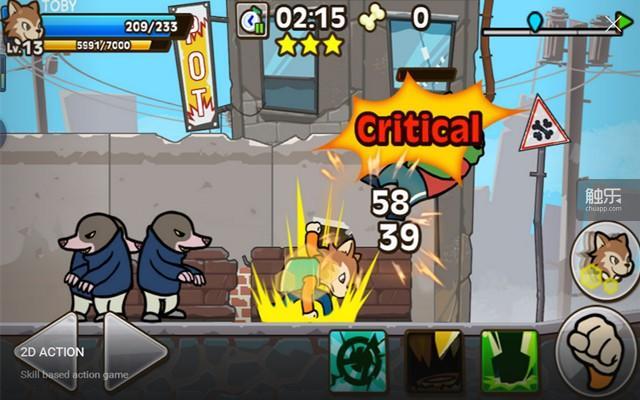 游戏是常见的横版过关模式,动作招式丰富