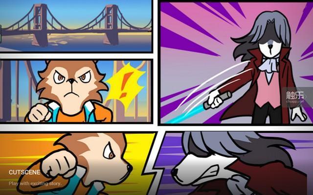 游戏的美术风格十分卡通,内里却是硬派的战斗体验