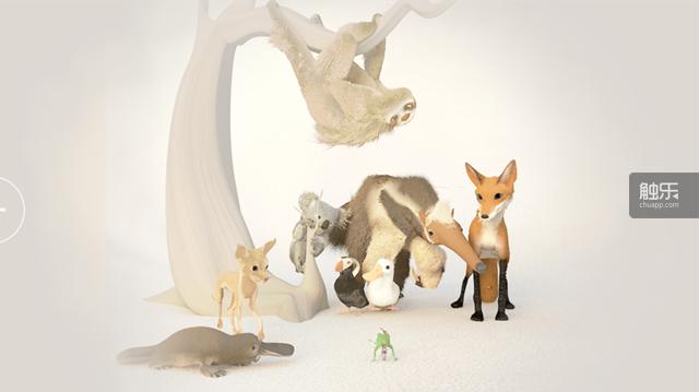 游戏的画面色彩,动物形象