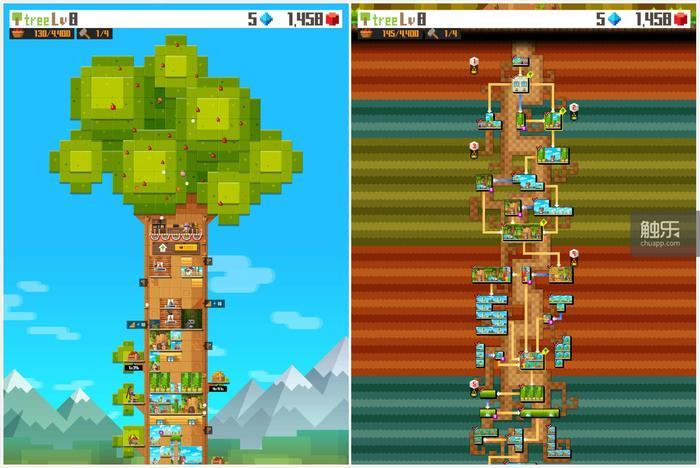 《像素树》如名字所说的,是一款完完全全的像素画风游戏