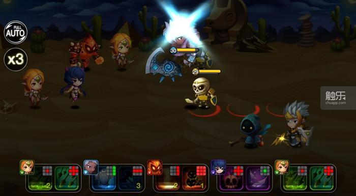 玩家可通过触发主动技来影响战况
