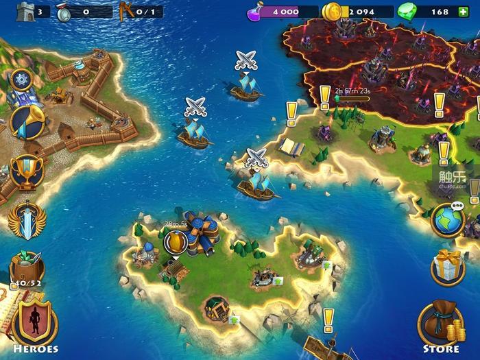游戏大地图,和传统SLG一样,需要不断推图前进
