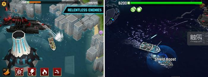 面对巨无霸,小型舰只只能是以放风筝战术予以应对;召唤舰只无法被玩家自主控制,并且技能CD时间极其缓慢