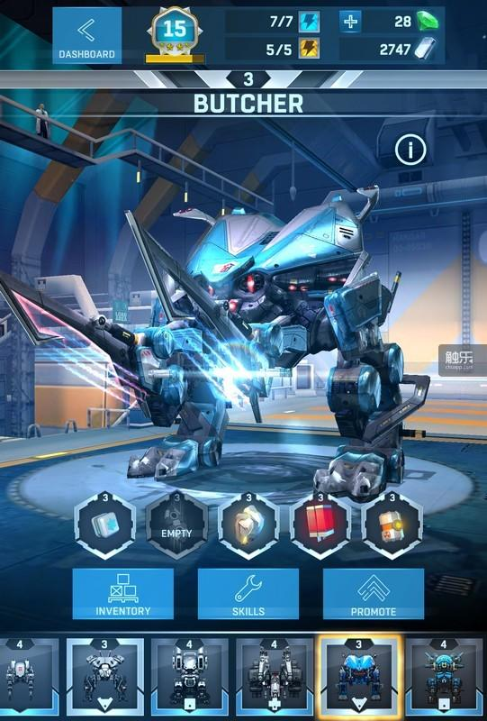 SUPER机器人是战斗的重要武器,芯片全部安装后即可进行升级
