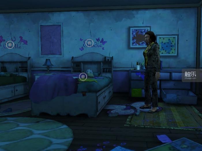 陌生的儿童房,在米琼恩眼中变成了一对女儿的睡房