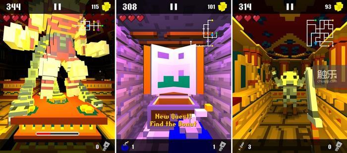 别看Boss身材如此高大,它的攻击模式其实非常单一,找好规律即可轻松击破;这个任务是要我们去找……甜甜圈?!等待救援的同伴都是Minecraft角色跑错片场的么?